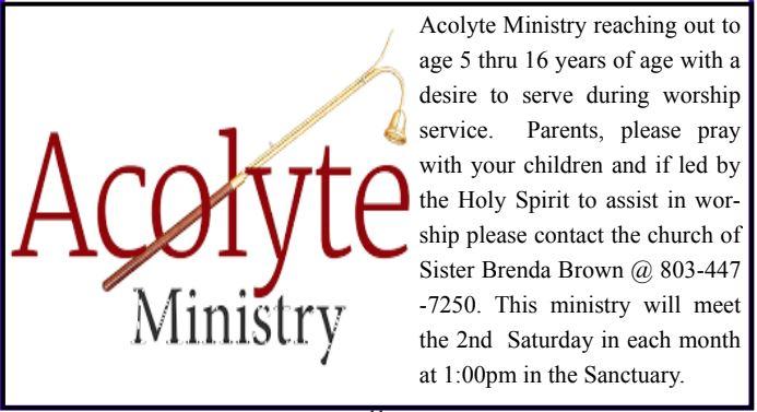 Acolytes Ministry @ Bethel AMEC (Sanctuary)