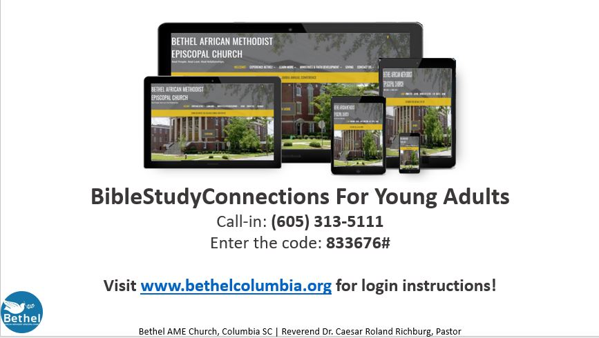 YOUNG ADULTS MINISTRY: BibleStudyConnections @ Teleconference