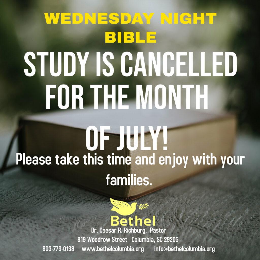 Wednesday Family Bible Study