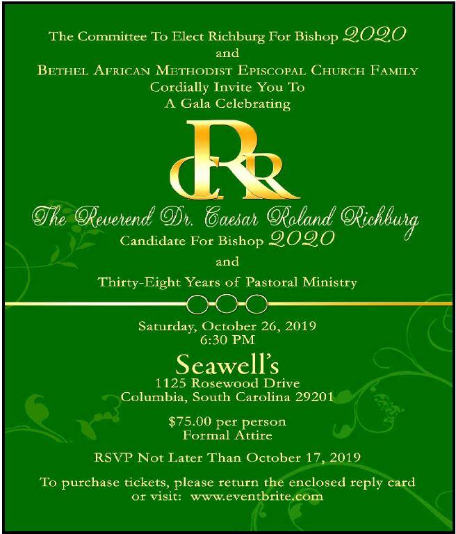 A Gala Celebrating Pastor Caesar Roland Richburg @ Seawell's