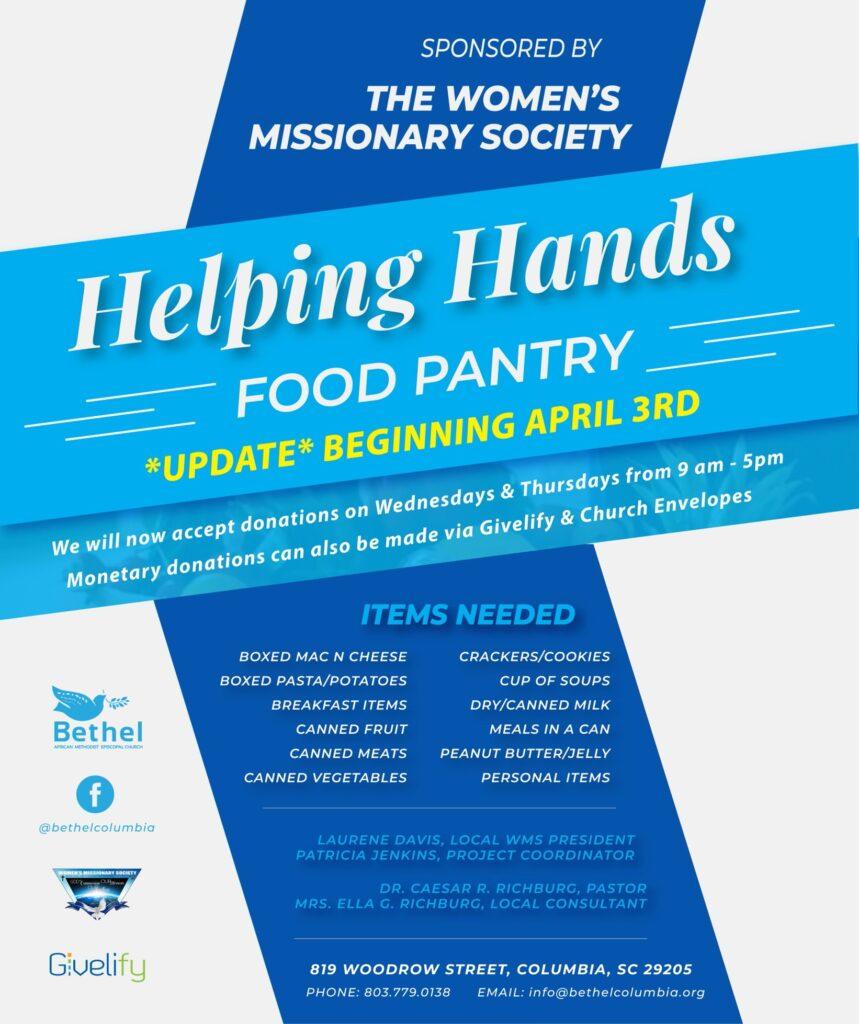 Helping Hands Food Pantry (updated) @ Bethel AMEC